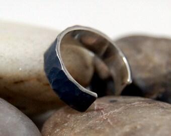 Adjustable Hammered Sterling Silver Ring, Adjustable Hammered Wedding Ring, Womans Adjustable hammered wedding band