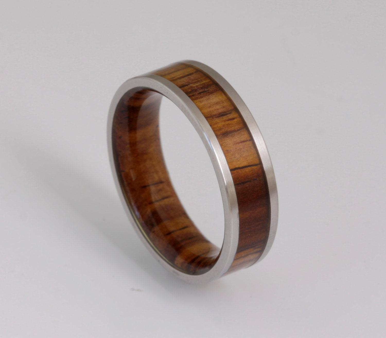 wood wedding band metal wood ring man jewelry woman wedding