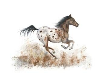 Farm Nursery Decor - Horse Print - Farm Animal Art - Horse Decor - Horse Nursery - Farm Print - Nursery Art - Girls Room - Kids Wall Art