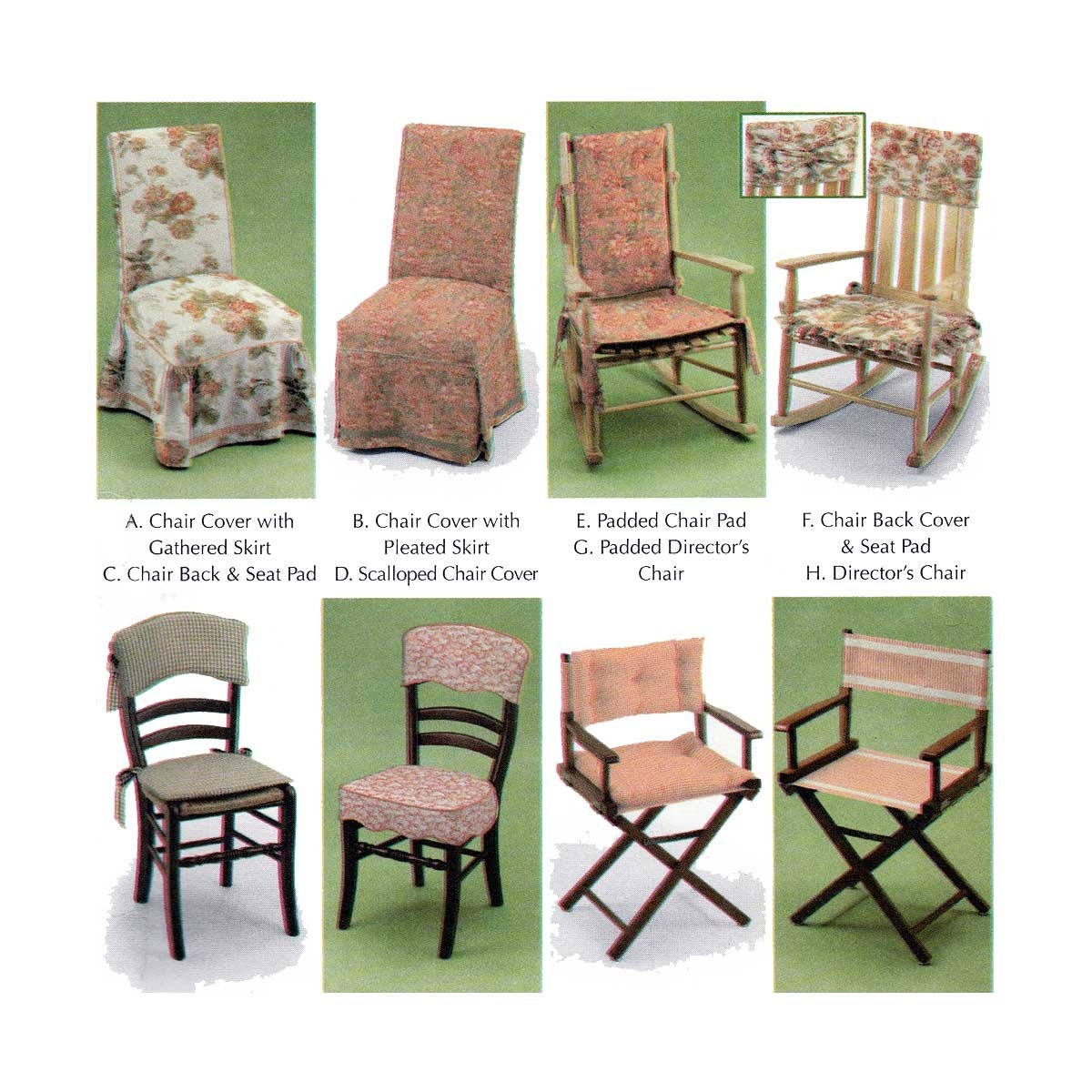 Home Decor Sewing Ideas: Chair Covers Chair Pads Home Decor Sewing Pattern By Donna