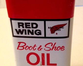 Vintage Red Wing Boot & Shoe Oil 8 oz. Can Fantastic Display Item, Great Graphics, Cool Décor Item.