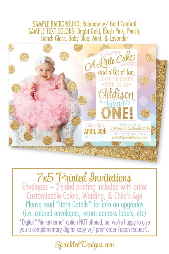 Rainbow Unicorn St Birthday Invitation Unicorn First - Digital first birthday invitation