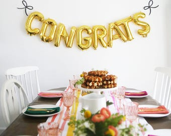 Congratulations Wedding Congrats Balloon Banner Congratulations engagement Congrats Graduate Decor