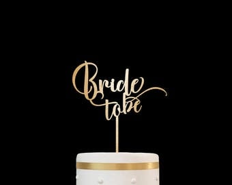 Customized Wedding Cake Topper, Personalized Cake Topper for Wedding, Bridal Shower Cake Topper, Bride to Be Cake Topper 15
