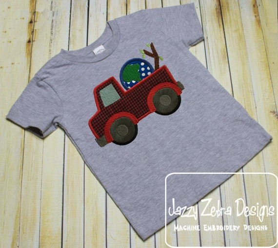 Truck Earth Day appliqué embroidery design - truck appliqué design - earth appliqué design - world appliqué design - save the earth