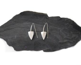 Pending geometries. Earrings, porcelain, ceramics, gift for woman, Earring, Ceramics, Art, design, minimalist