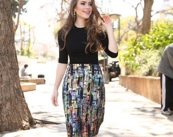 Multi Colored Print Skirt