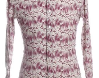 Vintage 1960's Terital Pattern Shirt S - www.brickvintage.com