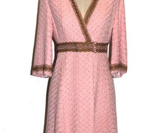 60'S EMBROIDERED JACKET DRESS