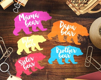 Mama Bear svg, Bear Family svg, Mother's Day svg, Family Cut File, Mommy Bear svg, eps, dxf, png Cut Files for Silhouette for Cricut