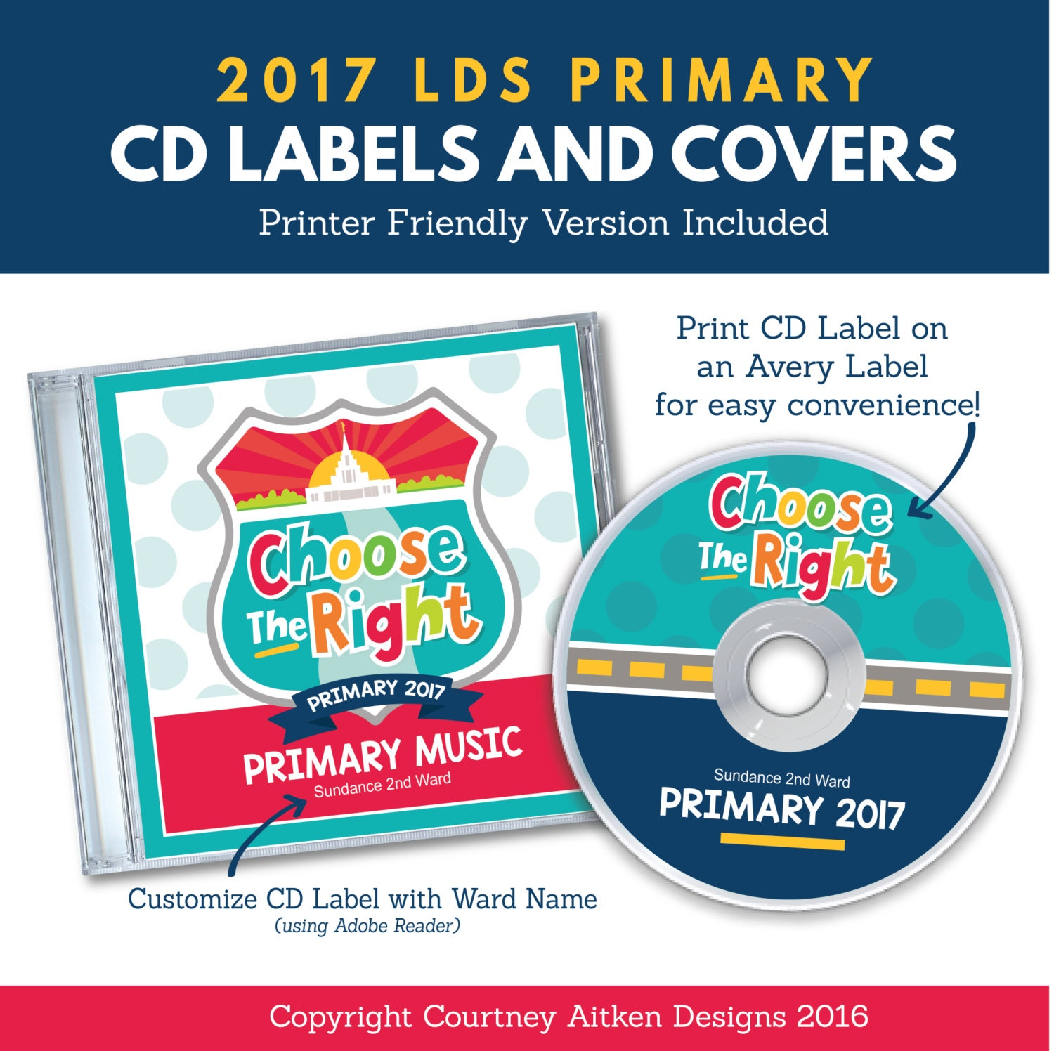 2017 LDS Primary Theme CD Labels and Covers