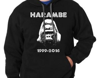 Harambe Hoodie Harambe Meme Hooded Sweatshirt
