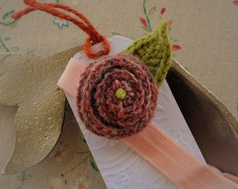 Crochet Rose Baby Head Band