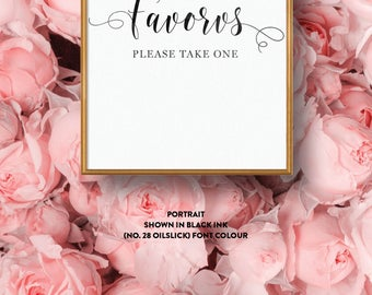 Wedding Sign Single-Sided Printed Diy Printable Digital File Only — The Kaytlyn Collection — Favours