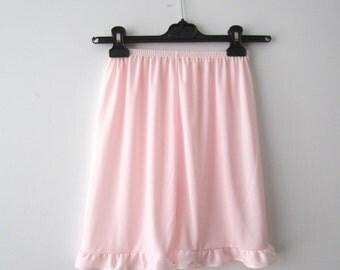 Vintage Lingerie Tap Pants Light Pink Pajamas Shorts Small to Medium Size Sleepwear Sheer Pants