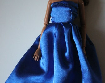 blue gown for 11.5 inch doll