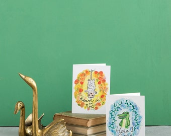 Here I Come Alligator Baby Congratulations A2 Greeting Card