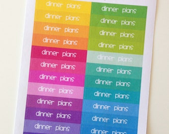 Planner Stickers - Header Stickers Dinner Plans