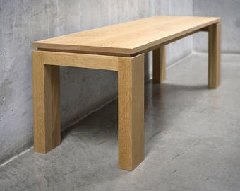 Solid White Oak Bench *