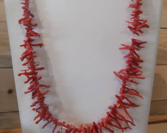 Red Coral Necklace, Tribal