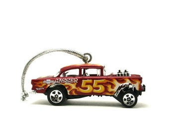 1955 Chevy Bel Air Gasser Hot Wheels Ornament