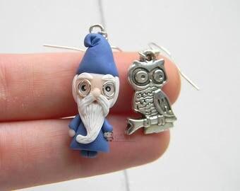 Merlin inspired, Mago Merlino, Earrings