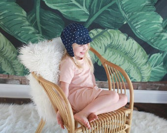 Heart Cap, Baby Toddler and Kids Sun Hat, Children's Sun Hat, Cap with Chin Straps