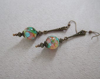 Ink Paint effect Vintage Stye Earrings