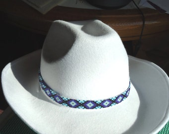 Beaded hat band, Hat band, accessory, Seed bead hat band, Western hat band, Cowboy hat band, Cowgirl hat band, Native American inspired