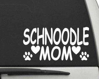 CW1259 Schnoodle Mom Decal Sticker for Car or Truck Window or Laptop FREE SHIPPING