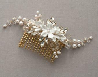 Harper   Bridal Comb Gold, Wedding headpiece, Bridal Headpiece, Wedding Comb,
