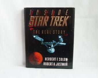 1996 Inside Star Trek - The Real Story - Herbert F Solow - Robert H Justman - Hardcover - Illustrated TV History Book