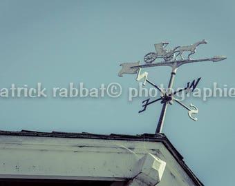 Wind Vane Fine Art Photography Weather Vane Blue Romantic Inspirational Retro Hipster California