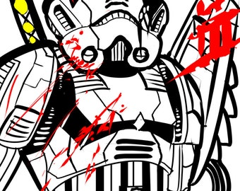 ninja stormtrooper art print