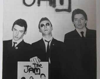 Rare Original 1977 The Jam Polydor UK Promotional Poster for their Debut Album 'In the City'