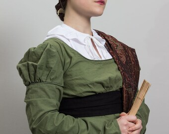 Regency chemisette in white cotton, multiple choice of sizes - 19th century Jane Austen historical costume undergarments accessories