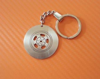 Personalized Car Detail Keychain, Stainless Steel, Custom Keychain, Automobile Details, Car tire, Car garnish, Car Steering wheel, etc.