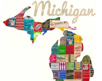 Michigan State Print and Note Cards Vintage Matchbooks