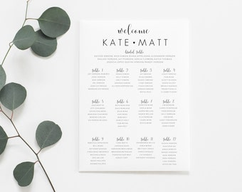 Wedding Seating Chart Printable. Wedding Seating Chart Sign. Wedding Seating Chart Board. Seating Chart Wedding. Find Your Seat Sign.