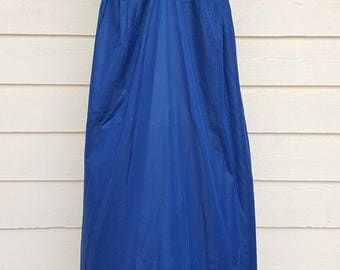 Vintage 1980's Nylon Blue Maxi Nightgown by Gilead