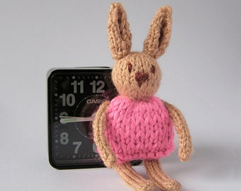 Knitted Bunny, Bunny Miniature, Knitted Miniature, Knitted Toy