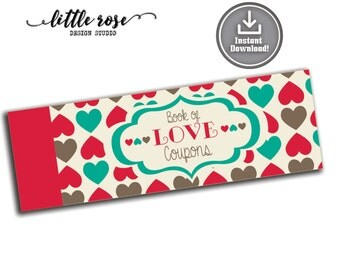 Printable Love Coupons - Birthday Gifts for Him or Her - Love Vouchers - Gifts Under 10 - DIY Coupon Booklet - Naughty Vouchers -