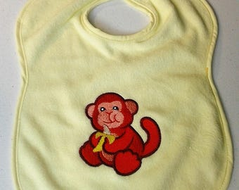 Baby Bib * Embroidered Bib  *  Monkey Bib * Baby Shower Gift * New Baby Gift