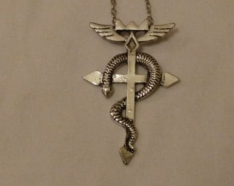 Free Shipping Full Metal Alchemist Inspired Necklace, Flamel Necklace, Ed Elric's Necklace, Edward Elric's Necklace