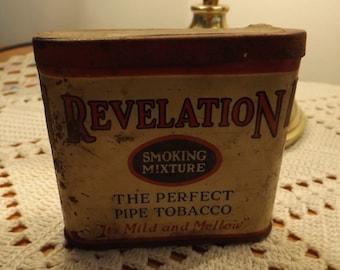 Vintage Revelation Pipe Tobacco Tin