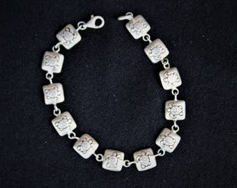 On Sale!! Sterling Silver Hawaiian Honu SEA TURTLE Link BRACELET 34gr.