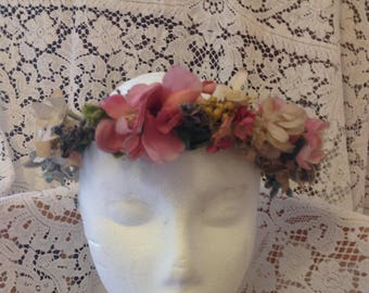 True vintage floral headdress
