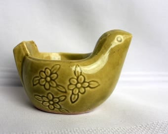 Green Chicken Egg Cup - Green Egg Cup - Country Egg Cup - Japan Ceramic Egg Cup - Japan egg Cup