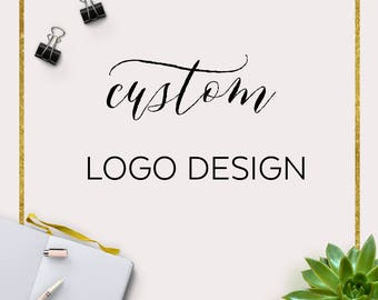 Custom Logo Design and Watermark  One of A Kind Logo Service  Etsy Branding  Small Business Logo