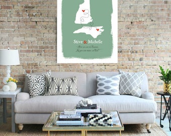 Wedding US States Map Guest Book Marriage Couple Print Alternative Signature Guest Books Signature Guest Book Destination Wedding Gift-40977